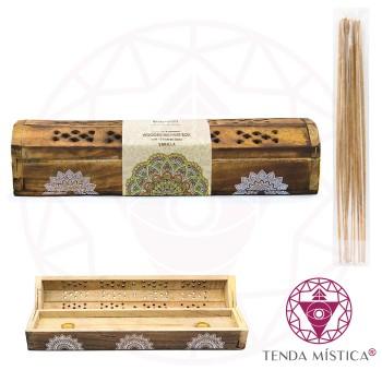Incensário Estojo Mandalas + Inc. Baunilha