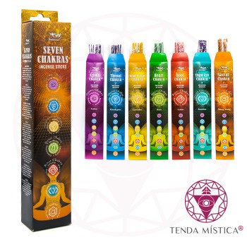 Incenso 7 Chakras - 7 Sticks