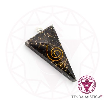 Pendente Orgonite Shungite - Triângulo Pencil
