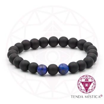 Pulseira Signo Gémeos - Lápis Lazuli