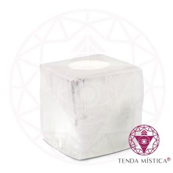 Selenite - Castiçal cubo