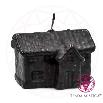 Vela De Figura - 10cm - Casa Preta