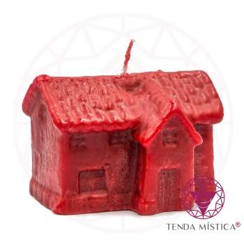 Vela De Figura - 10cm - Casa Vermelha