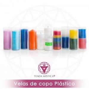 Vela Copo Plástico