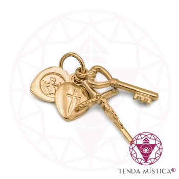 Amuleto Agnus Dei - Dourado