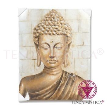 Tela 100X90cm - Buddha Dourado B