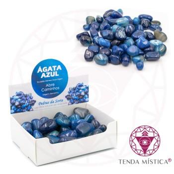 Caixa 250gr - Ágata azul - Polida
