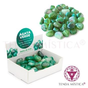 Caixa 250gr - Ágata Verde - Polido