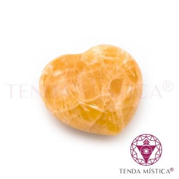 Coração - Calcite Laranja