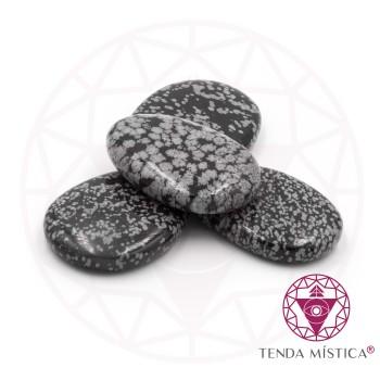 Pedras Ovais - Obsidiana Nevada - 4Unid.