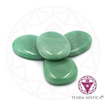 Pedras Ovais - Quartzo Verde - 4Unid.