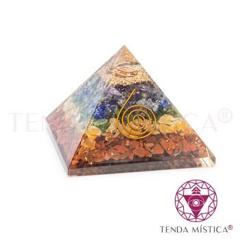 Pirâmide Orgonite - Chakras - 7X7