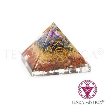 Pirâmide Orgonite - Chakras - 5X5