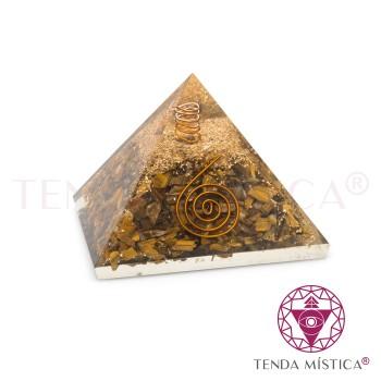 Pirâmide Orgonite - Olho de Tigre - 7X7