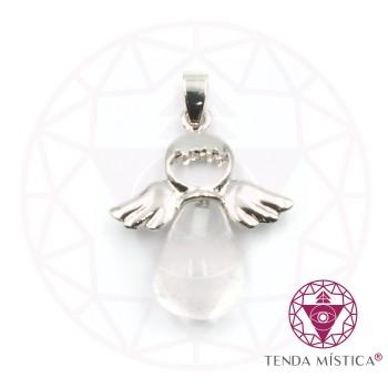 Pendente Anjo - Quartzo Cristal