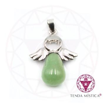 Pendente Anjo - Quartzo Verde