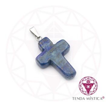 Pendente Cruz - Lápis Lazuli