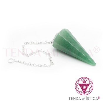 Pêndulo Multifacetado - Quartzo Verde