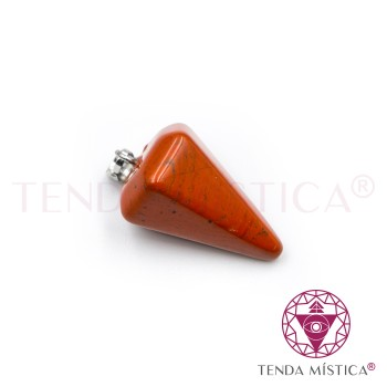 Pêndulo 2cm - Jaspe Vermelha