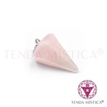 Pêndulo 2cm - Quartzo Rosa