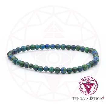 Pulseira Amazonite/ Azurite - 4mm