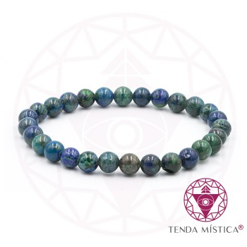 Pulseira Amazonite/ Azurite - 6mm