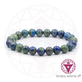 Pulseira Amazonite/ Azurite - 8mm