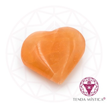 Selenite - Coração Laranja