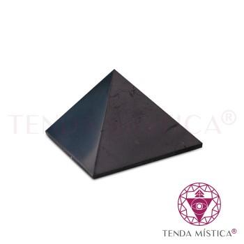 Pirâmide Shungite - Polida - 3X3