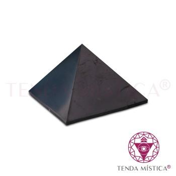 Pirâmide Shungite - Polida - 4X4