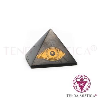 Pirâmide Shungite - Polida - Olho de Horus