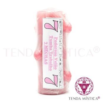 Velão 7 Mechas - Rosa