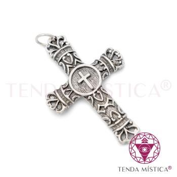 Proteção Prata - Cruz São Cipriano Escura