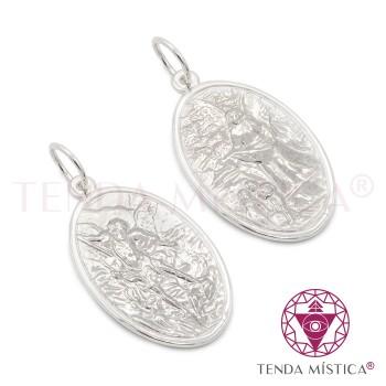 Proteção Prata - Medalha Arcanjo Miguel