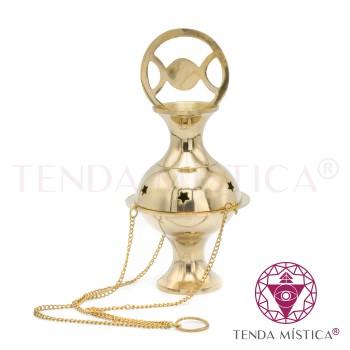Turíbulo Metal Dourado - Triluna