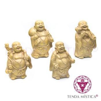 Conj. 4 Buddhas Dourados