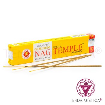 Incenso Golden Nag - Temple