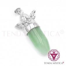 Pendente Anjo Bala - Quartzo Verde