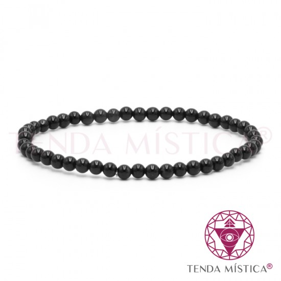 Pulseira Obsidiana Negra - 4mm