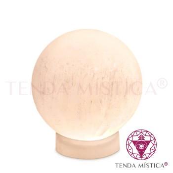 Selenite Candeeiro - Esfera