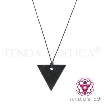 Colar Shungite - Triângulo Invertido