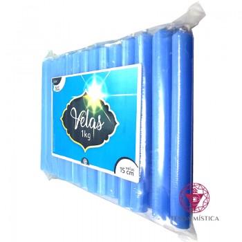 1KG - Vela De 15cm - Azul Clara