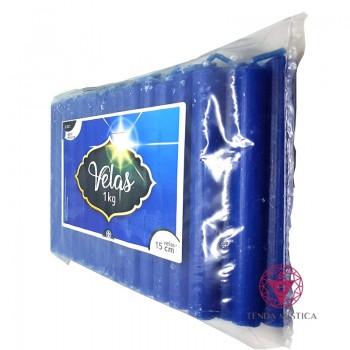 1KG - Vela De 15cm - Azul